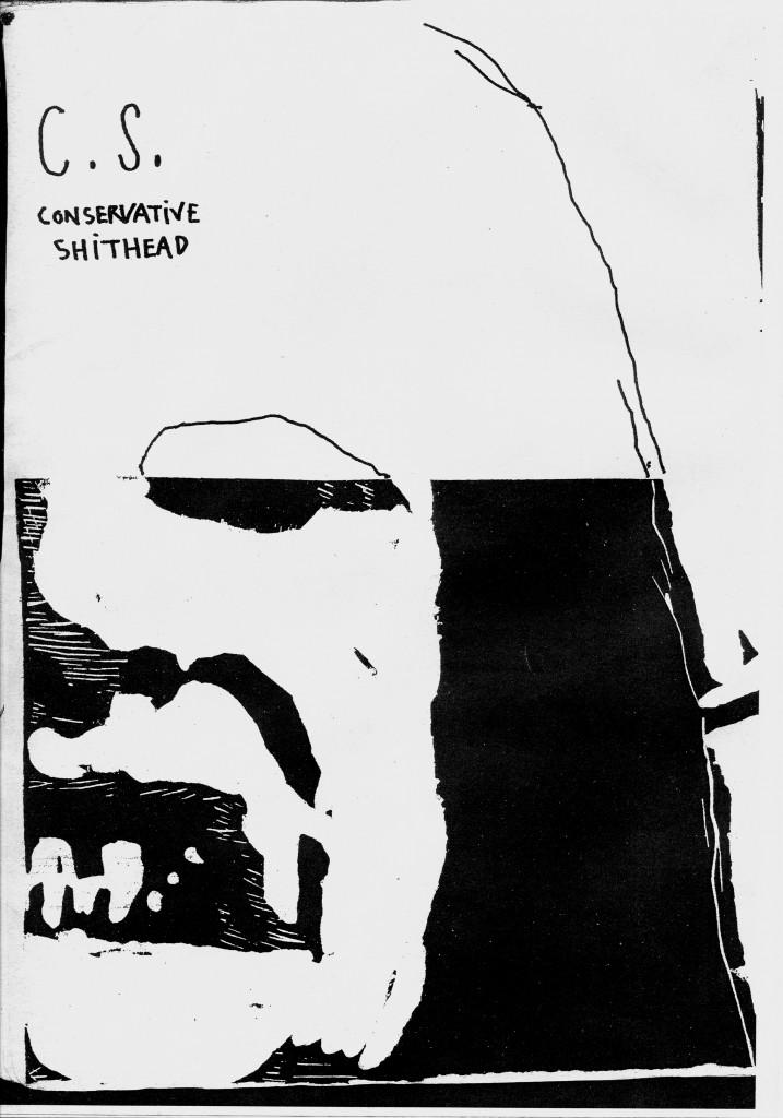 Couverture C.S. (Conservative Shithead), Journal numéro 1 (Damien Deroubaix) 2009